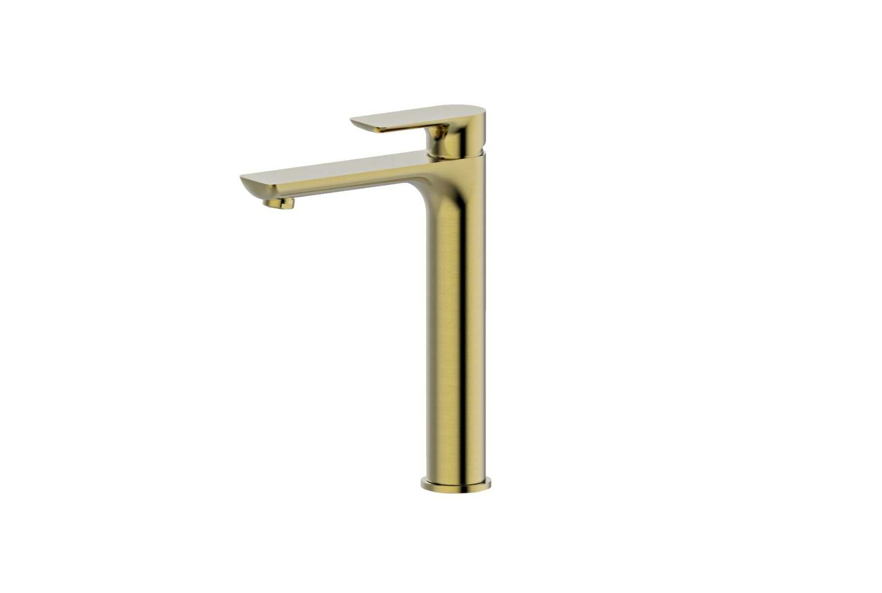 LUXUS Brushed Gold Tall Basin Mixer