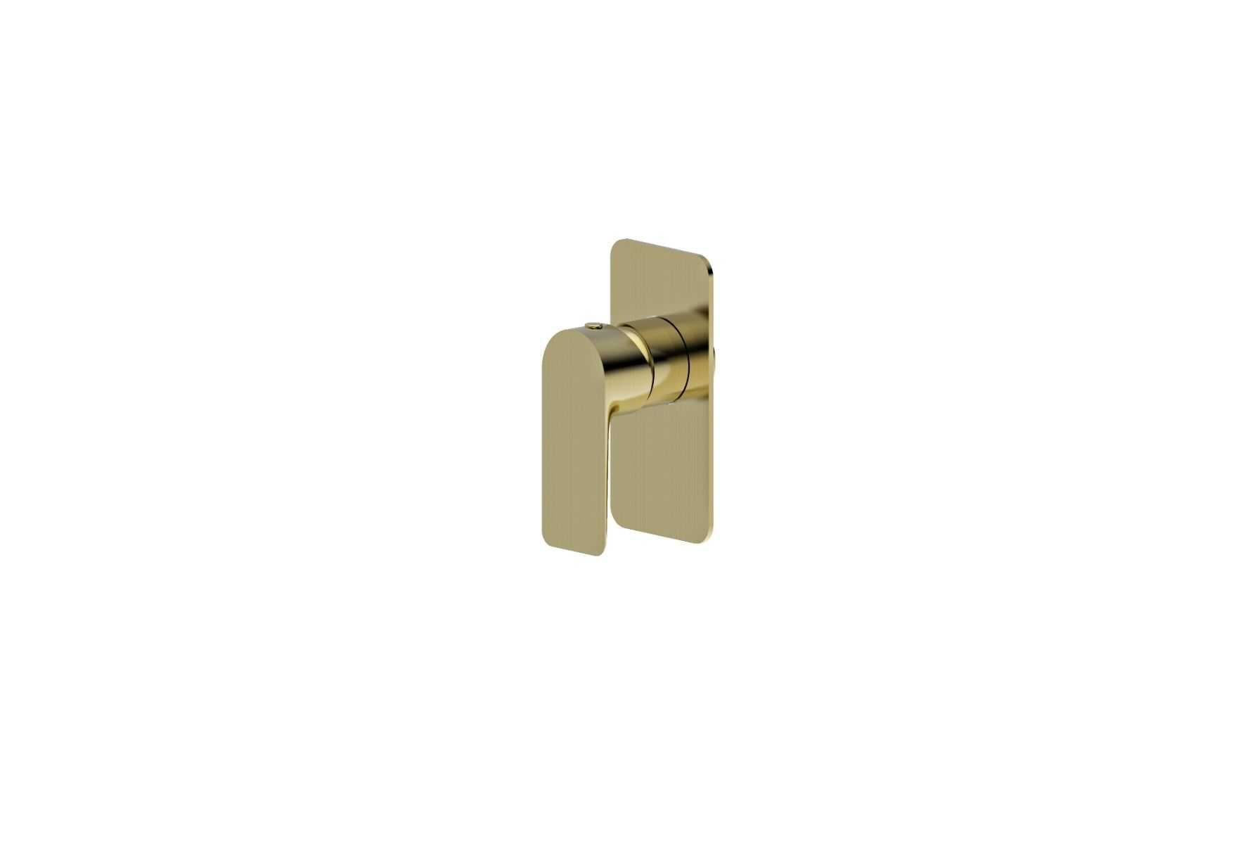 LUXUS Brushed Gold Wall Mixer