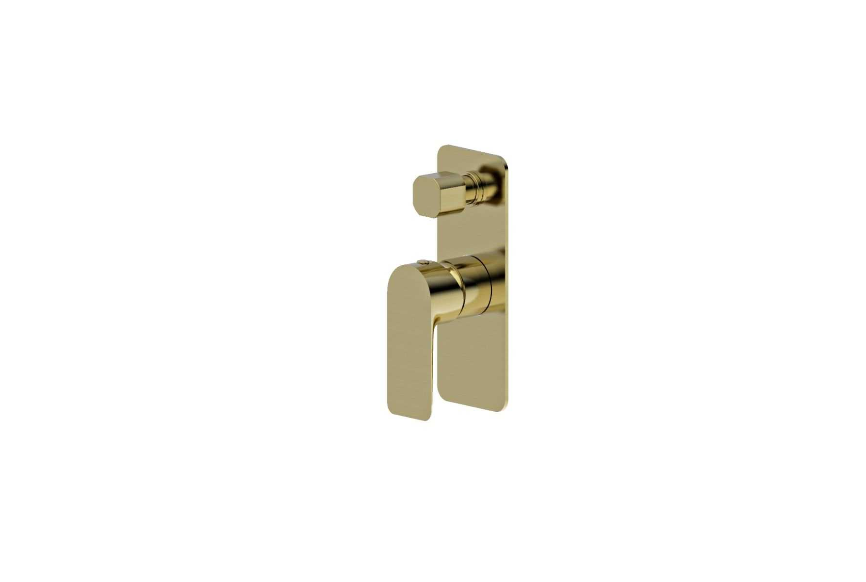 LUXUS Brushed Gold Wall Mixer with Diverter