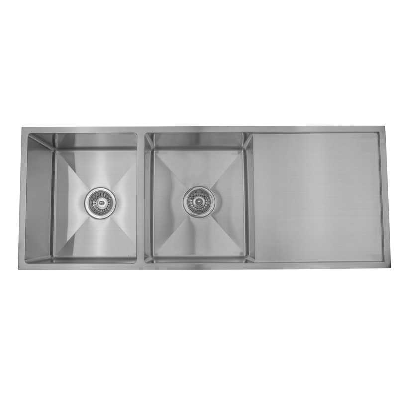 ARCKO LUX 1140mm Double Bowl Sink with Drainer